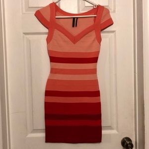 GUESS bodycon dress with cut out on back